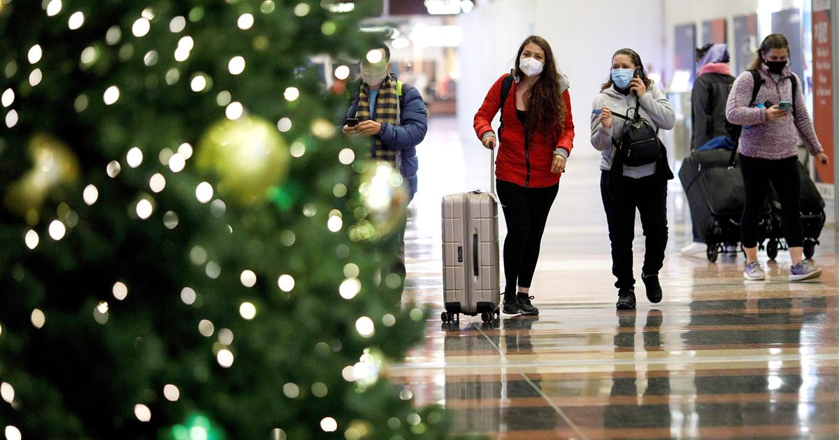 DSA data show that US air travel peaked in the day before Christmas, post-March